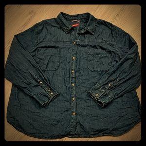 NWT Merona Denim Long Sleeve Shirt Plus Size 3